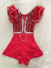 Lot of 2  Perfromance/ dance costume red sequins