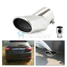 CURVED EXHAUST TAIL REAR MUFFLER TIP PIPE TRIM For Hyundai ix35 Tucson 2010-2014