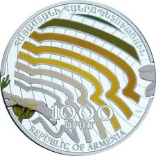 Armenia - 2010 - 1000Dram - Beauty of Flowers - CHAMOMILE - 28,28g Silver Coin