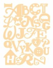 WOODEN ALPHABET KIDS BEDROOM LETTERS CHILDRENS NURSERY WALL ART - 3mm - CTO7
