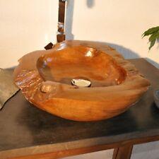 Holzwaschbecken von WOHNFREUDEN   Waschbecken aus Teakholz ca 45 cm lasiert