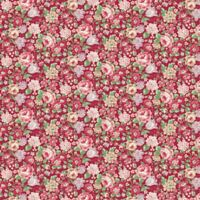 English Rose Garden~Packed Flowers Cotton Fabric by Quilt Gate