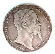 ITALIE SARDAIGNE VICTOR EMMANUEL II 1849-1861 - 5 LIRE 1861 TURIN