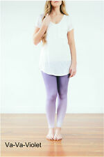 Leggings Super Soft ONE SIZE OS ( Violet ) Purple Buttery Soft Ooh La Leggings