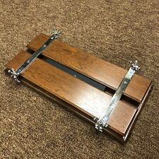 Wood and Stainless Steel Screw Book Press