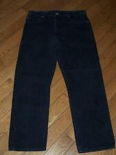 "MEN'S USA LEVI'S 505 REGULAR FIT STRAIGHT LEG DENIM JEANS W 36"" L 30"" BLACK"