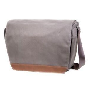 Cecilia Lambert 12L Camera Messenger Bag in Charcoal Canvas