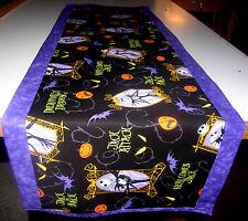 Handcrafted Table Runner14x42 Nightmare Before Christmas Jack Skeleton Halloween