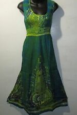 Dress Fit XL 1X 2X 3X Plus Sundress Teal Green Dashiki Tie Dye Empire NWT 100