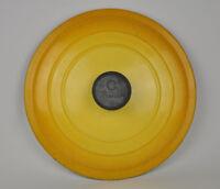 "LE CREUSET Flame Yellow enamel E 10"" Dutch Oven lid only Cast Iron France"