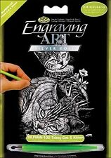 ROYAL & LANGNICKEL - SILMIN102 - TABBY CAT AND KITTEN ENGRAVING ART
