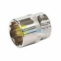 "Socket 3/8"" Drive 12pt Metric 12 Point Bi Hex Corrotion Resistant Socket 19mm"