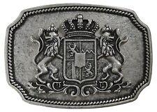 FRONHOFER Trachten Gürtelschnalle Bayerisches Wappen, altsilber Schnalle 4 cm