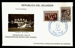 DR WHO 1984 ECUADOR FDC SANTO MIGUEL CACHET COMBO POPE JOHN PAUL II g21924