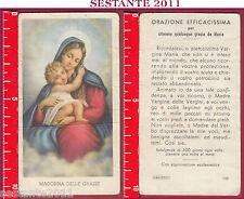 1762 SANTINO HOLY CARD MADONNA DELLE GRAZIE ED. G MI. 142 MEDIA CONSERVAZIONE
