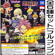Takara Fairy Tail Part 5 Key chain Keychain mini Deformed Figurine Set of 6