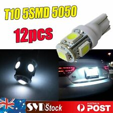 12pcs White Wedge Side T10 184 5SMD 5050 Led Light Dome Trunk Tail Lamp Repalce