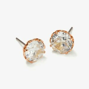 Kate Spade New York That Sparkle Round Stud Earrings, Rose Gold / Clear
