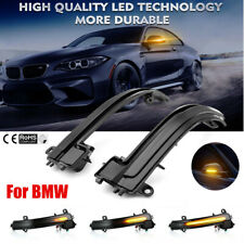 For BMW 1~4 Series i3 Smoked Side Mirror Sequential Blink Turn Signal Light Best