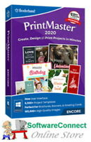 Broderbund PrintMaster 2020 Print Master GENUINE GUARANTEE