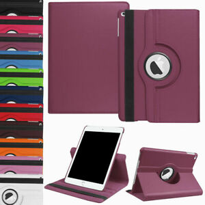 For New iPad 9.7 2018 6th Generation 360 Rotating Leather Smart Stand Case Cover