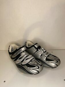 Shimano Men's RO77 Silver Cycling Shoes Size 42 SM-SH51 SPD Cleats Size 8.5 US