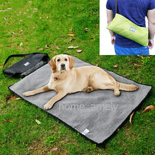 Pet Dog Outdoor Blanket Travel Camp Soft Fleece Cushion Bed Foldable Portable