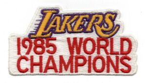 Los Angeles Lakers Vintage 1985 World Champions 3.5x2 Collectible Patch