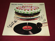 THE ROLLING STONES SIGNED LP LET IT BLEED X2 KEITH RICHARDS CHARLIE WATTS PROOF