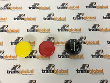 Land Rover Series 2 3 Gear Lever Stick Knobs Hi-Low FWD 4WD Black Yellow Red x3