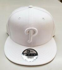New listing Philadelphia Phillies New Era 9FIFTY Snapback Adjustable Hat - White/White