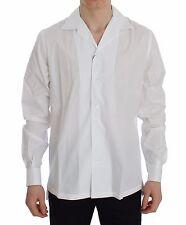 NEW $440 DOLCE & GABBANA Shirt Dress Formal White Cotton Spread 42 / US16.5 / XL