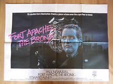 FORT APACHE, THE BRONX (1981) - original UK quad film/movie poster, Paul Newman