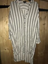 Topshop Striped Shirt Dress Size 10