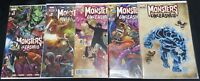 MONSTERS UNLEASHED # 1 2 3 4 5 VARIANT KUBERT COMPLETE SET NM / NM +  MCNIVEN