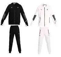 MEN'S PUMABMW M Motorsport Hooded Sweat Jacket Pants Tracksuit Black White