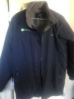 Lands End Black Rain jacket Size 3X men's a&e factory service. Great Condition!