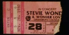 1980 Stevie Wonder concert ticket stub Hotter than July Tour