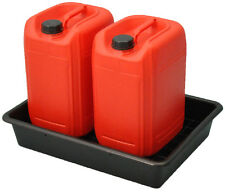 28 Litre Oil or Chemical Bunded Drip and Spill Tray Pallet with Removable Grid