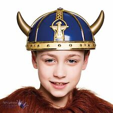 Kids Boys Medieval Viking Warrior Larp Helmet with Horns Fancy Dress Costume Hat
