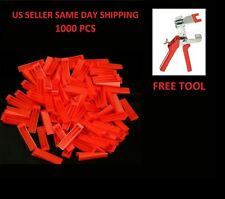 1000 pcs Reusable Flat Tile Leveling System Wedges Wall Floor Spacers FREE TOOL