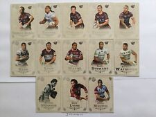 2018 NRL GLORY MANLY SEA EAGLES COMMON BASE TEAM SET OF 13 CARDS