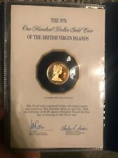 the 1976 100 Dollar gold coin of the British Virgin Islands