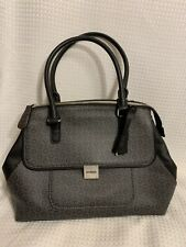 NWT Guess Monogram Black Purse Handbag With Pink Coin Purse & Strap $120 Retail