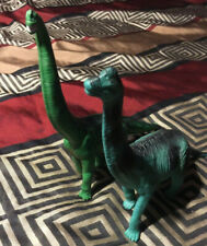 "Brachiosaurs long neck dinosaur lot green figures 1996 Safari 8"" soft vinyl 7"""