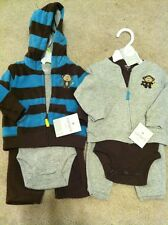 Set Of 2 Carters Layette 3 Piece Outfits - Monkeys - 3 Months - NWT