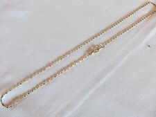 "Aurum Clad (Gold Plated) Diamond Cut GP Womens Girls 18"" Necklace Chain"