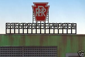 Pennsylvania RR MILLER ENGINEERING Animated Neon Sign O/HO Scale #4281