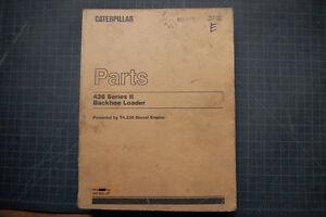 CAT Caterpillar 436 Backhoe Parts Manual book loader catalog shop spare list OEM