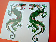 DRAGON Van Car Motorcycle Helmet Caravan Stickers Decals 2 off 100mm